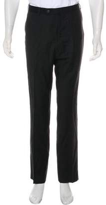 Isaia Aqua Spider Wool Pants