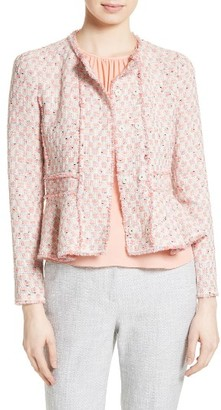 Women's Rebecca Taylor Tweed Peplum Jacket $495 thestylecure.com