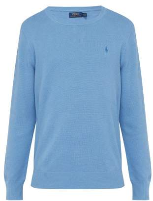 Polo Ralph Lauren Linen And Cotton Blend Pique Knit Sweater - Mens - Blue