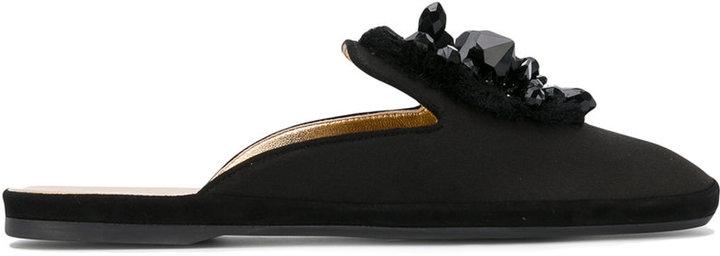 Car ShoeCar Shoe embellished mules