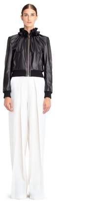 Lanvin Gathered Leather Jacket