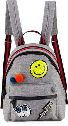 Hannah Banana Girls' Felt Backpack w/ Assorted Patches