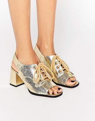 ASOS TANG Lace Up Sandals $58 thestylecure.com
