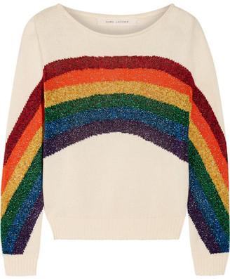 Metallic Intarsia Cotton Sweater - Ivory