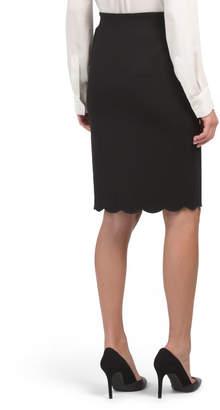 Scalloped Pencil Skirt