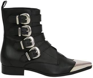 Diesel Black Gold Black Leather Ankle boots
