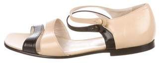 Chanel Leather Strap Sandals