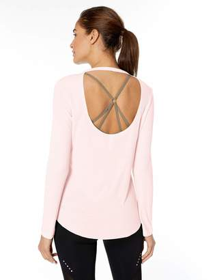 Core 10 Amazon Brand Standard Women's Blend LS Open Back