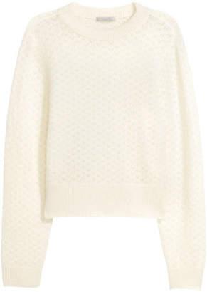 H&M Mohair-blend Sweater - White