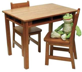 Lipper 534P Child's Rectangular Table with Shelves and 2 Chairs