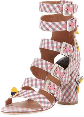 Laurence Dacade Dana Gingham Multi-Strap Sandal