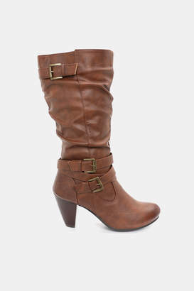 Ardene Buckle Block Heel Boots