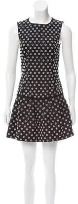 Michael Kors Embellished Wool Mini Dress