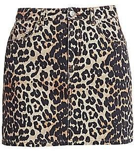 Ganni Women's Print Denim Skirt