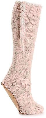 Lemon Snowflake Slipper Socks - Women's