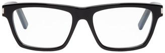 Saint Laurent Black Rectangular Optical Glasses