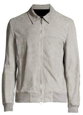 Theory Able Noland Suede Bomber