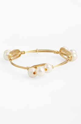 Women's Bourbon And Boweties Small Imitation Pearl Bracelet $34 thestylecure.com