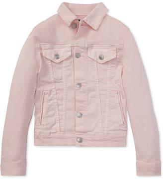 Polo Ralph Lauren Toddler Girls Pink Pony Denim Trucker Jacket