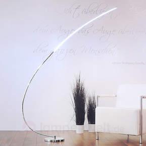 Metall-Bogen-Stehleuchte Chromo mit LED