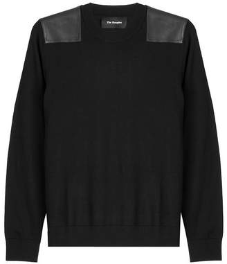 The Kooples Merino Wool Pullover with Leather