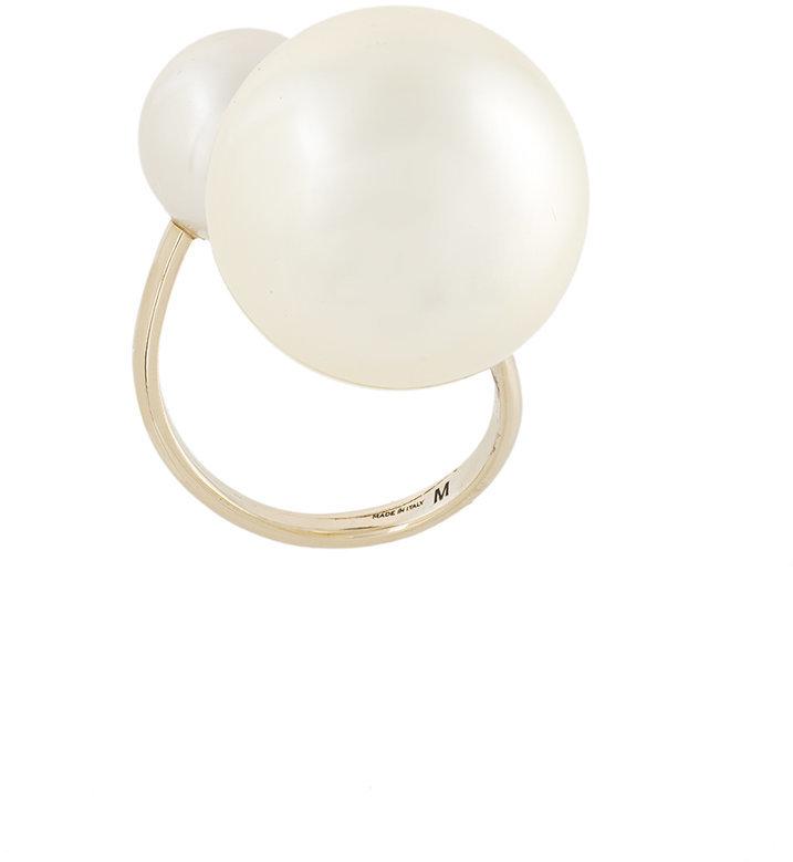 Salvatore FerragamoSalvatore Ferragamo loop pearl ring