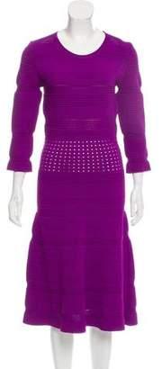 No.21 No. 21 Half-Sleeve Flared Dress