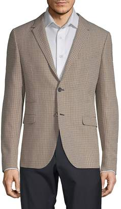 Valentino Men's Plaid Wool Sportcoat