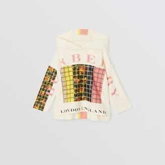 Burberry Graphic Floral Print Hoodie