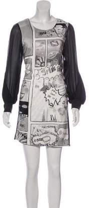 Tsumori Chisato Graphic Print Mini Dress