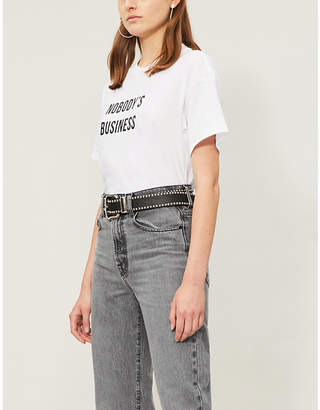 Nobody Denim 'Nobody's business' print cotton-jersey T-shirt