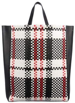 Celine Checkered Vertical Cabas Tote
