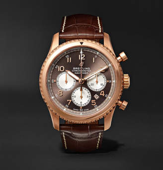 Breitling Navitimer 8 B01 Chronograph 43mm Red Gold and Alligator Watch