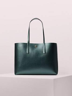 Kate Spade Molly Large Tote, Deep Evergreen Metallic