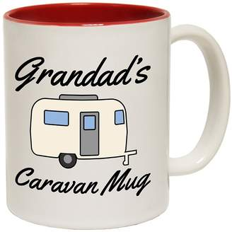 Tiffany & Co. Vincent TiffanyVincent Grandad'S Caravan Mug Ceramic Slogan Cup With Red Interior 11oz