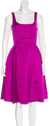 Kate Spade Kate Spade New York Silk-Blend A-Line Dress