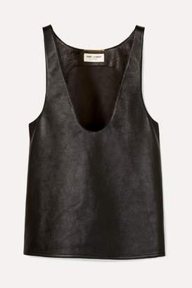 Saint Laurent Leather Tank - Black