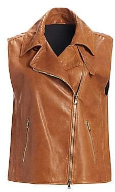 Brunello Cucinelli Women's Leather Moto Vest