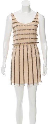 Alice + OliviaAlice + Olivia Bead-Embellished Mini Dress w/ Tags