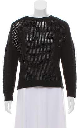 Tibi Crotchet Long Sleeve Sweater