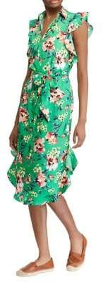 Lauren Ralph Lauren Petite Floral Ruffle Dress
