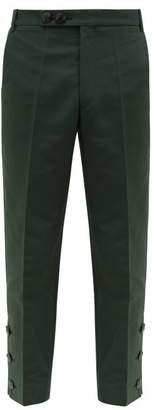 Namacheko Bawanim Button Cuff Cotton Blend Trousers - Mens - Green
