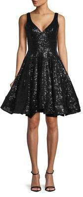 Mac Duggal Leena Sequin Fit-&-Flare Dress