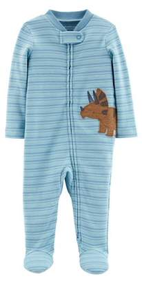 Carter's Little Planet Organic By Little Planet Organic Long Sleeve Zip Up Sleep 'N Play (Baby Boys)