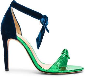 Alexandre Birman Velvet & Watersnake Clarita Sandals