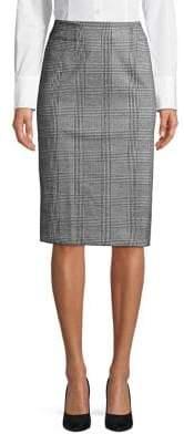 Lord & Taylor Glen Plaid Pencil Skirt
