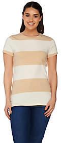 Isaac Mizrahi Live! Rugby Striped Knit T-shirt
