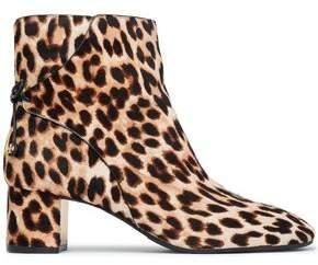 98e9d270cae Tory Burch Bow-detailed Leopard-print Calf Hair Ankle Boots