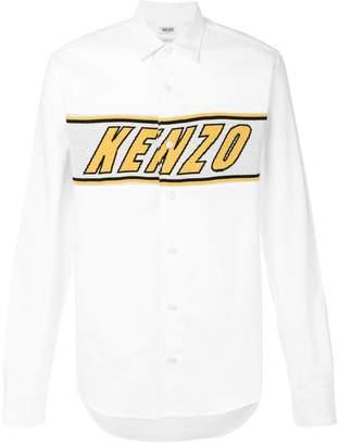 Kenzo logo embroidered shirt