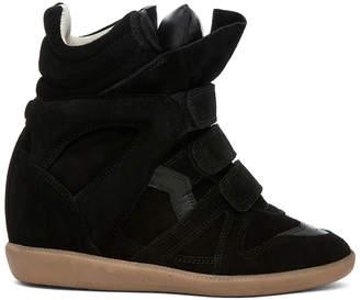 Isabel Marant Bekett Calfskin Suede Sneakers